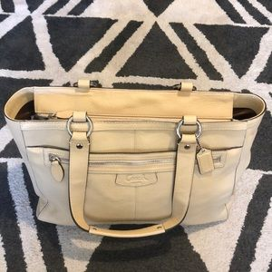 Leather Coach Tote - Never Worn